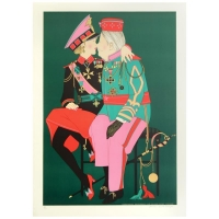 """Denis Paul Noyer Signed """"Corporal Benedikt & Grand Duke Victor"""" Limited Edition 28x39 Lithograph"""