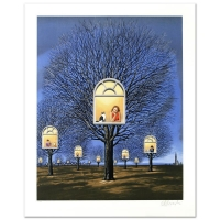 """Rafal Olbinski Signed """"Suspended Promises"""" LE 26x33 Hand Pulled Original Lithograph"""
