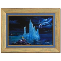 "Peter & Harrison Ellenshaw Signed ""Blue Castle"" LE 26x35 Framed Giclee on Canvas"