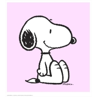 """Snoopy - Pink"" Hand Numbered Limited Edition 24x26 Chromatic Pigment Ink Fine Art Print at PristineAuction.com"