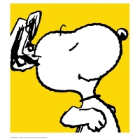 """Snoopy - Yellow"" Limited Edition 24x26 Chromatic Pigment Ink Fine Art Print at PristineAuction.com"