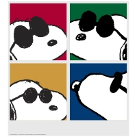 """Snoopy - Faces"" Limited Edition 24x26 Chromatic Pigment Ink Fine Art Print at PristineAuction.com"