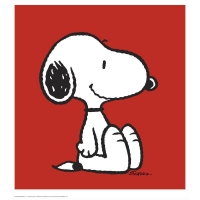 """Snoopy - Red"" Hand Numbered Limited Edition Chromatic Pigment Ink 24x36 Fine Art Print at PristineAuction.com"