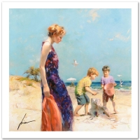 """Pino Signed """"Good Old Days"""" Limited Edition 18x18 Giclee"""