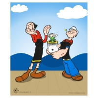 """Popeye Spinach"" Limited Edition 13.5"" x 17"" Sericel"