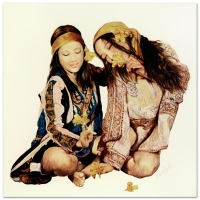 """Popo & Ruby Lee Signed """"Sisters"""" Limited Edition 28x28 Serigraph at PristineAuction.com"""