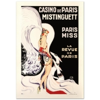 """""""Casino De Paris Mistenquette"""" Hand Pulled 16x24 Lithograph by the RE Society"""