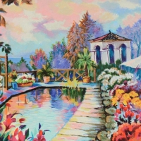 """Zina Roitman Signed """"Tranquility"""" Limited Edition 15x19 Serigraph on Canvas Board at PristineAuction.com"""