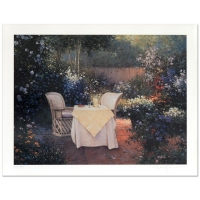 """Sergon Signed """"Garden Pleasures"""" Limited Edition 17x21 Giclee (PA LOA) at PristineAuction.com"""