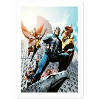"""Stan Lee Signed """"Avengers #82"""" Limited Edition 18x27 Giclee on Canvas by Scott Kolins and Marvel Comics"""