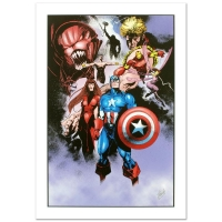 "Stan Lee Signed ""Avengers #99 Annual"" Limited Edition 18x27 Giclee on Canvas by Leonardo Manco & Marvel Comics"