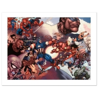 """Stan Lee Signed """"What If? Civil War #1"""" Limited Edition 24x18 Giclee on Canvas by Harvey Tolibao & Marvel Comics"""