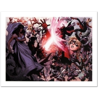 """Stan Lee Signed """"Avengers: The Children's Crusade #4"""" Limited Edition 24x18 Giclee on Canvas by Jim Cheung & Marvel Comics"""