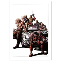 "Stan Lee Signed ""New Avengers #10"" Limited Edition 18x27 Giclee on Canvas by Mike Deodato Jr. & Marvel Comics"