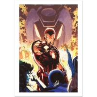 "Stan Lee Signed Marvel Comics ""Iron Age #1"" Limited Edition 18x27 Giclee on Canvas by Lee Weeks"