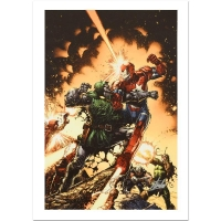 """Stan Lee Signed Marvel Comics """"Siege: The Cabal #1"""" Limited Edition 18x27 Giclee on Canvas by David Finch"""
