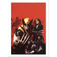 "Stan Lee Signed Marvel Comics ""Fear Itself: Wolverine #1"" Limited Edition 18x27 Giclee on Canvas by Daniel Acuna"