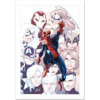 "Stan Lee & Humberto Ramos Signed ""The Amazing Spider-Man #648"" Limited Edition 18x27 Giclee on Canvas by Humberto Ramos and Marvel Comics"