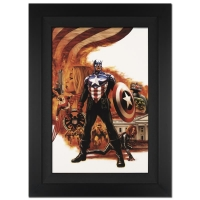 "Stan Lee Signed ""Captain America #41"" Limited Edition 25x34 Giclee on Canvas by Steve Epting and Marvel Comics"
