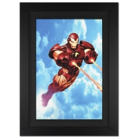 """Stan Lee Signed """"Iron Man: Iron Protocols #1"""" Extremely Limited Edition 25x34 Custom Framed Giclee on Canvas by Ariel Olivetti & Marvel Comics #/10"""