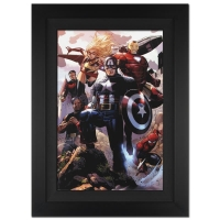 "Stan Lee Signed Marvel Comics ""Avengers: The Children's Crusade #4"" 25x34 Custom Framed Giclee on Canvas by Jim Cheung (Limited Edition # of 10)"