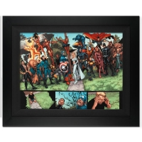 "Stan Lee Signed Marvel Comics ""New Avengers #8"" 25x34 Custom Framed Giclee on Canvas by Steve McNiven (Limited Edition # of 10)"