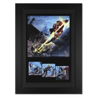 "Stan Lee Signed Marvel Comics ""Secret War #1"" 25x34 Custom Framed Giclee on Canvas by Gabriel Dell'Otto (Limited Edition # of 10)"