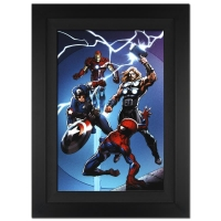 """Stan Lee Signed Marvel Comics """"Ultimate Spider-Man #157"""" 25x34 Custom Framed Giclee on Canvas by Mark Bagley (Limited Edition # of 10)"""