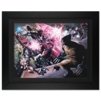 """Stan Lee Signed """"Avengers: The Children's Crusade #2"""" Extremely Limited Edition 29x40 Custom Framed Giclee on Canvas by Jim Cheung & Marvel Comics #/4"""