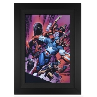 "Stan Lee Signed ""New Avengers #12"" Extremely Limited Edition 29x40 Custom Framed Giclee on Canvas by David Finch & Marvel Comics #/4"