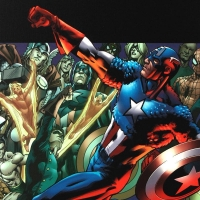 "Stan Lee Signed ""Captain America: Man Out Of Time #5"" Extremely Limited Edition 29x40 Giclee on Canvas by Bryan Hitch & Marvel Comics #/4 at PristineAuction.com"