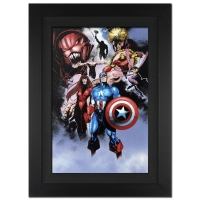 """Stan Lee Signed """"Avengers #99 Annual"""" Extremely Limited Edition 29x40 Custom Framed Giclee on Canvas by Leonardo Manco & Marvel Comics #/4"""