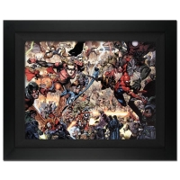 "Stan Lee Signed ""Secret Invasion #7"" Extremely Limited Edition 28x39 Custom Framed Giclee on Canvas by Leinil Francis Yu & Marvel Comics #/4"
