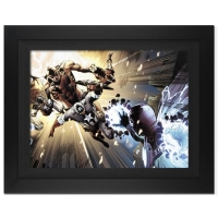 "Stan Lee Signed ""Captain America: Man Out Of Time #5"" Extremely Limited Edition 29x36 Giclee on Canvas by Jorge Molina and Marvel Comics at PristineAuction.com"