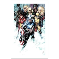 """Stan Lee Signed """"Free Comic Book Day 2009 Avengers #1"""" Limited Edition 18x27 Giclee on Canvas by Jim Cheung & Marvel Comics"""