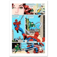 """Stan Lee Signed """"Amazing Spider-Man #90"""" Limited Edition 18x27 Giclee on Canvas by John Romita Sr. & Marvel Comics"""