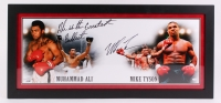 "Mike Tyson Signed ""Tyson & Ali"" 17x36 Custom Framed Photo Inscribed ""Ali is the Greatest, But I am Baddest"" (Steiner COA)"