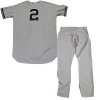 Derek Jeter Game Used Grey Jersey and Pants (4/06/2014) (Steiner LOA & MLB)