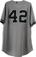Mariano Rivera New York Yankees 2013 Season Game Used #42 Grey Jersey (5/25/2013) (Steiner COA & MLB)