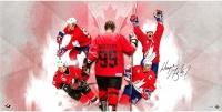 "Wayne Gretzky Signed Team Canada ""Homeland"" 36x18 Photo (UDA COA)"