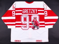 """Wayne Gretzky Signed Ninety Nine All-Stars Tour Original One-of-a-Kind Hand-Painted Captains Jersey Inscribed """"Tour 94"""" - Limited Edition #686/999 (UDA COA)"""