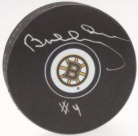 Bobby Orr Bruins Signed Official NHL Bruins Logo Puck (Orr COA) at PristineAuction.com