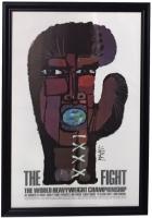 "Original Muhammad Ali vs Joe Frazier ""The Fight of The Century"" 34x49 Custom Framed Fight Poster Display at PristineAuction.com"