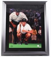Tiger Woods & Annika Sorenstam Signed 23x27 Custom Framed Photo (Upper Deck COA)
