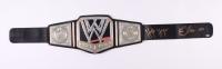 "Hulk Hogan & Ric Flair Dual-Signed WWE Championship Belt Inscribed ""16x"" (Schwartz COA) at PristineAuction.com"