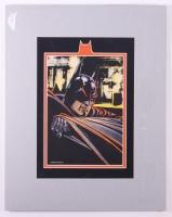 1991 DC Comics Batman Limited Edition 15x19 Custom Matted Zanart Movie Card