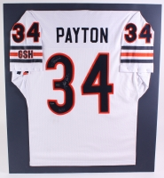 "Walter Payton Bears LE 32x36 Matted Jersey Inscribed ""Sweetness"" & ""16,726"" (Steiner COA)"