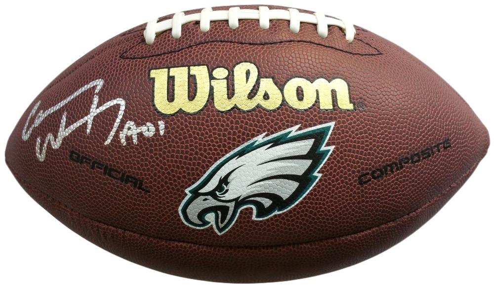 55a48114fea Carson Wentz Signed Eagles Logo Football (Fanatics) at PristineAuction.com