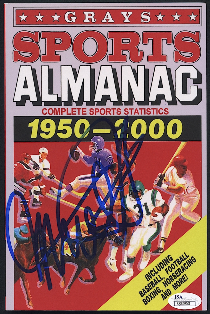 Michael J Fox Signed Back To The Future Ii Grays Sports Almanac Movie