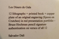 "Salvador Dali Signed Les Diners de Gala ""Les Pios Nonoches (Pie of Perpetual Light)"" 28x33 LE 1977 Lithograph With Etching #E.A (Dali Gallery COA) at PristineAuction.com"